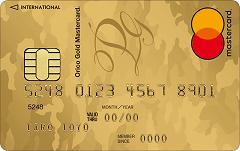 Orico Premium Gold iD×QUICPay(プレミアムゴールド アイディクリックペイ)券面
